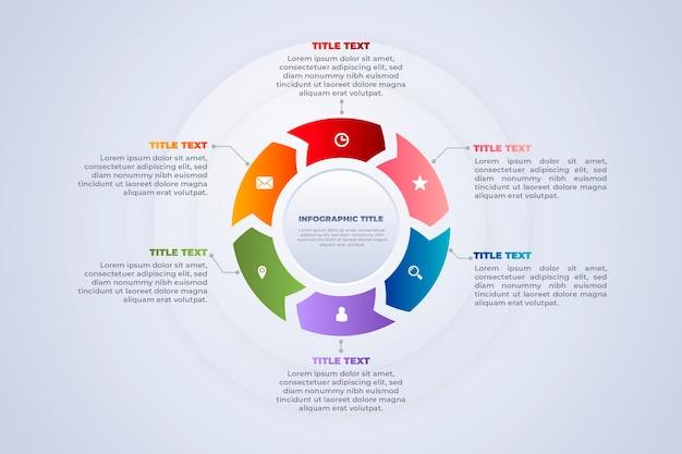 Infografía circular de scrum y datos circulares