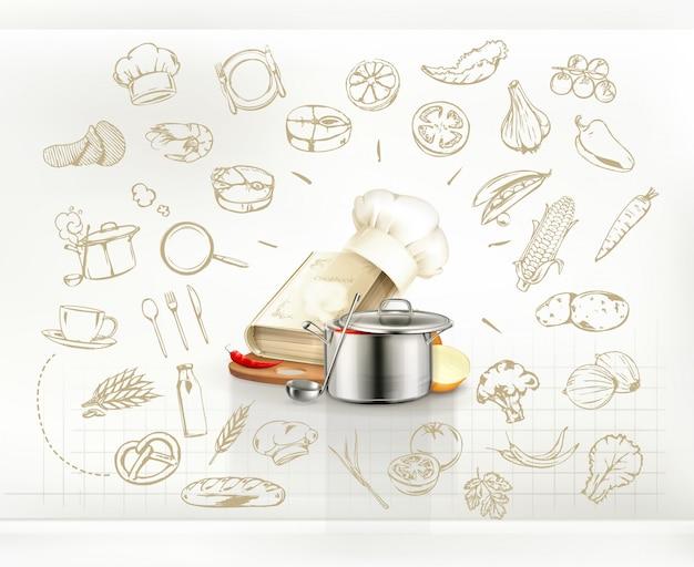 Infografía de cocina, vector