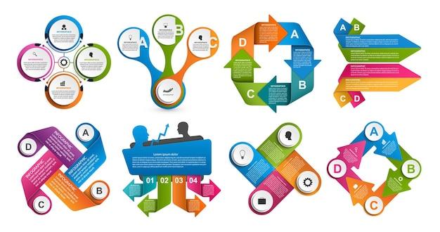 Infografía de colección. elementos de diseño.