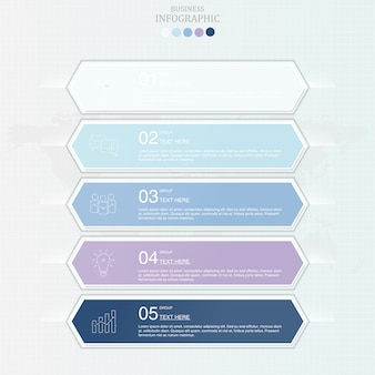 Infografía de color azul para el concepto de negocio.