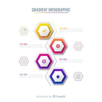 Infografía en color degradado