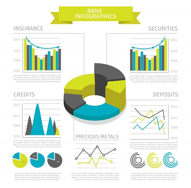 Infografía coloreada del banco