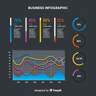 Infografía en colores degradados