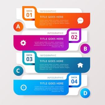 Infografía colorida detallada en estilo degradado