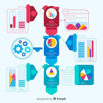 Infografía colorida con pasos