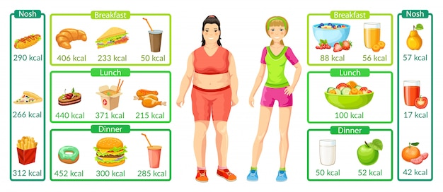 Infografía colorida de pérdida de peso
