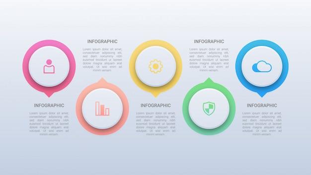 Infografía comercial colorida con opciones