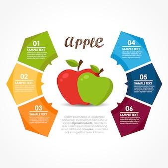 Infografía con diseño de frutas