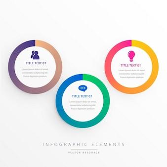 Infografía con elementos circulares