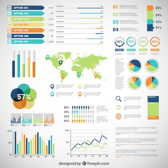 Infografía con variedad de diagramas