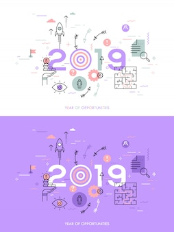 Infografía concepto 2018 año de oportunidades.