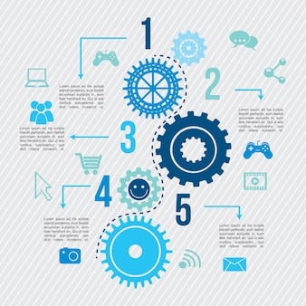 Infografía de conectividad sobre líneas fondo vector illustrat