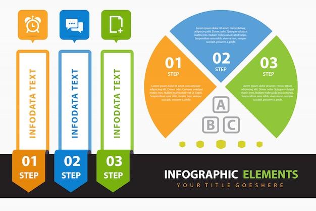 Infografía corporativa con elementos.