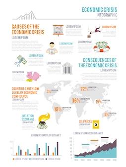 Infografía de crisis económica