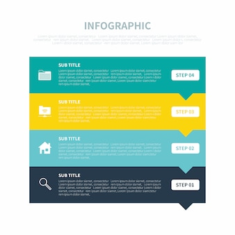 Infografía con cuatro pasos
