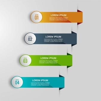Infografía con cuatro pestañas
