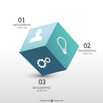Infografía cubo 3d