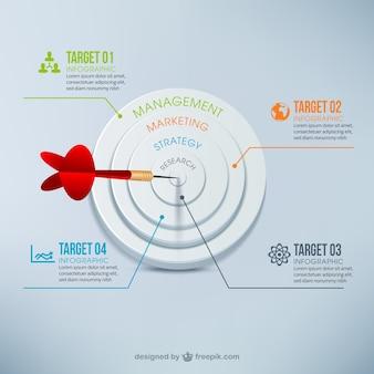 Infografía con dardos