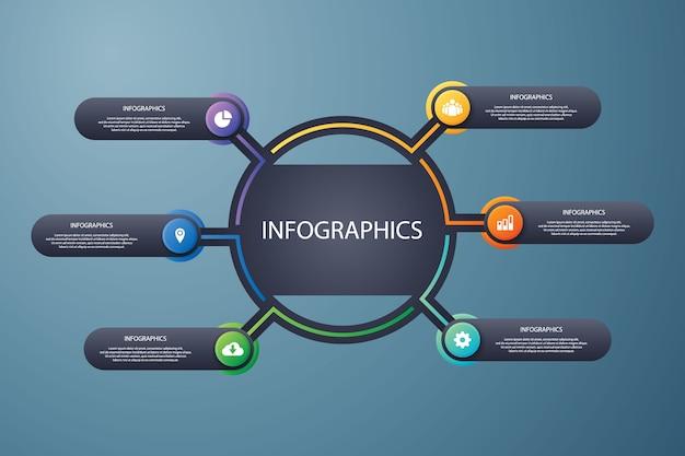 Infografía datos visual moderno diseño