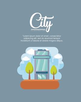 Infografía de elementos de la ciudad