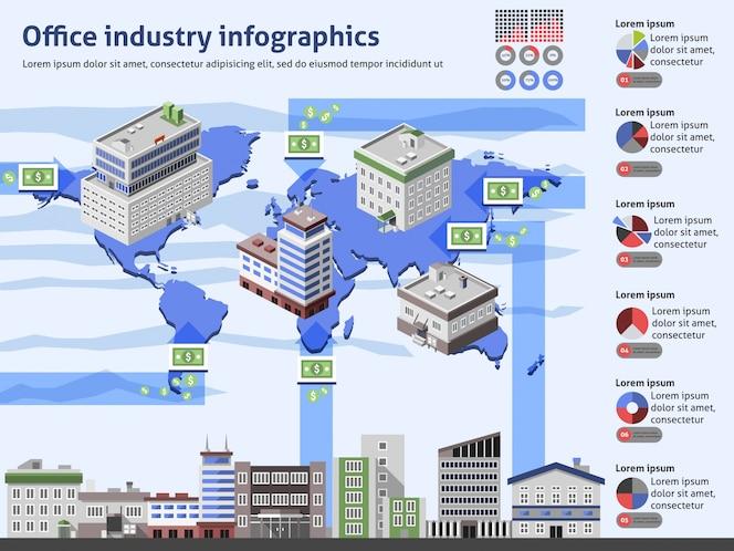 Infografía de la industria de oficina