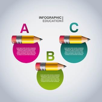 Infografía de lápiz