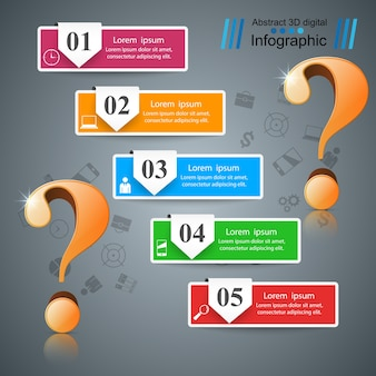 Infografía de negocios.
