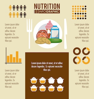 Infografía de nutrición y alimentos