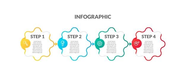 Infografía degradado colorido moderno. perfecto para presentaciones, diagramas de procesos, flujo de trabajo y pancartas