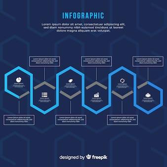 Infografía con degradado