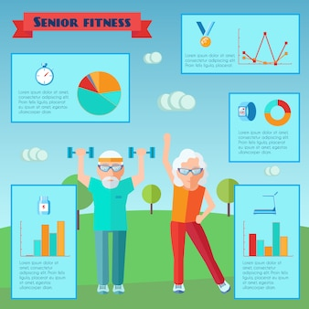 Infografía de deporte senior