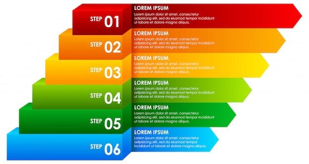 Infografía descendente del arco iris infografía