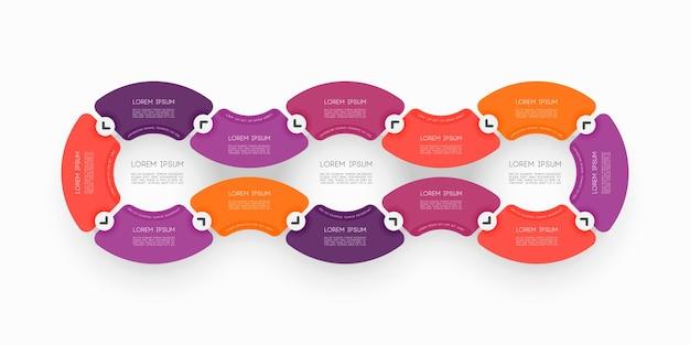 Infografía de diagrama de ciclismo