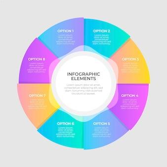 Infografía de diagrama circular colorido