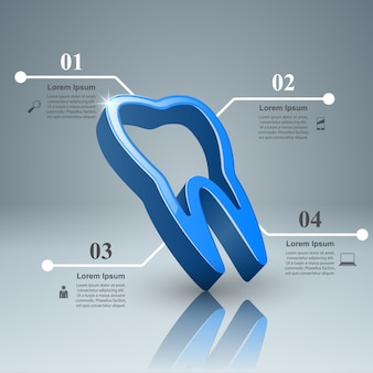 Infografía del diente.