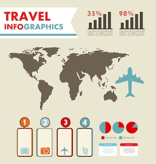 Infografía con diferentes elementos vector illustration
