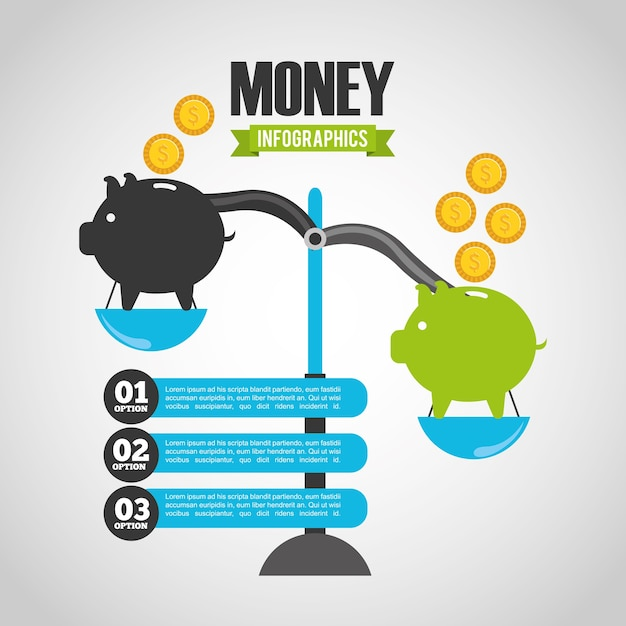 Infografía de dinero