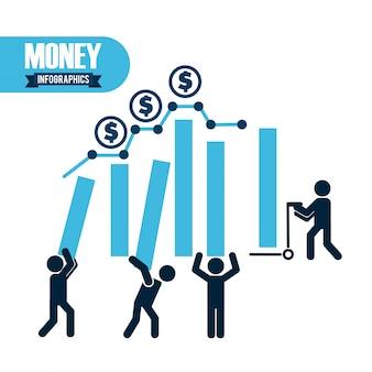 Infografia de dinero