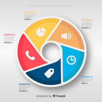 Infografía en diseño plano
