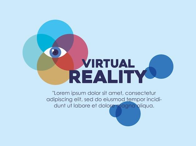 Infografía de diseño de realidad virtual con icono de visión