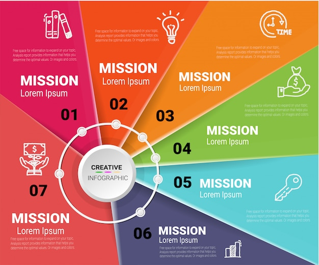 Infografía de diseño vectorial y presentación de negocios.
