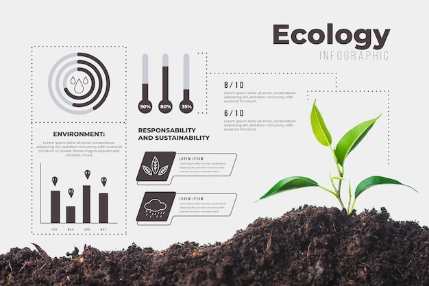 Infografía ecológica con foto y detalles.