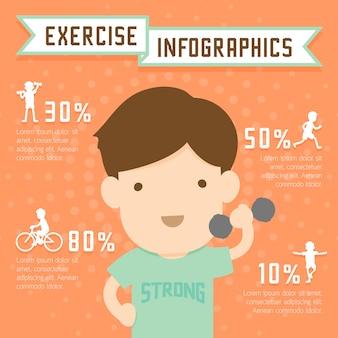 Infografía de ejercicio hombre