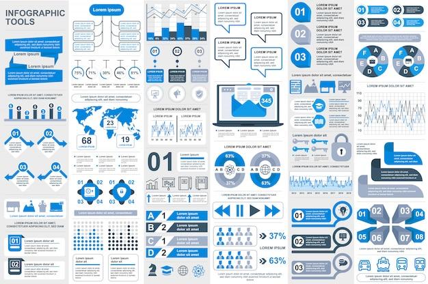 Infografía elementos vector plantilla de diseño