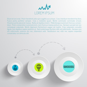 Infografía empresarial abstracta