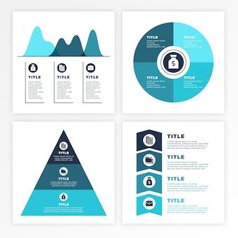 Infografía empresarial degradada