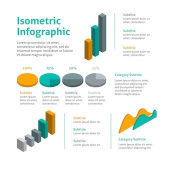 Infografía empresarial isométrica