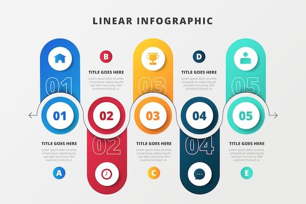 Infografía empresarial lineal creativa.