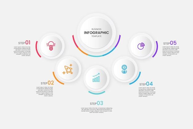 Infografía empresarial moderna