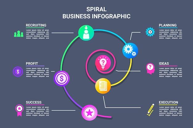 Infografía espiral colorido